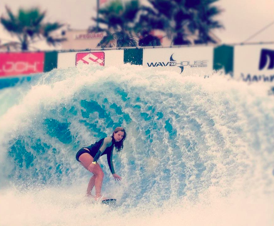 Nicole Morris Flowboarding at the Wavehouse in The City of The Sun